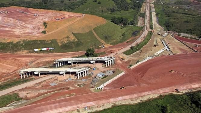 O Arco Metropolitano, em Caxias: projeto ambicioso de autoestrada que ligará toda a Região Metropolitana para reduzir engarrafamentos Foto: Divulgação