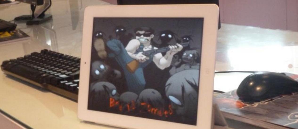 Estudantes do Oi Nave criam jogos de computador, celular e tablet visando o deficiente visual Foto: Pedro Giglio