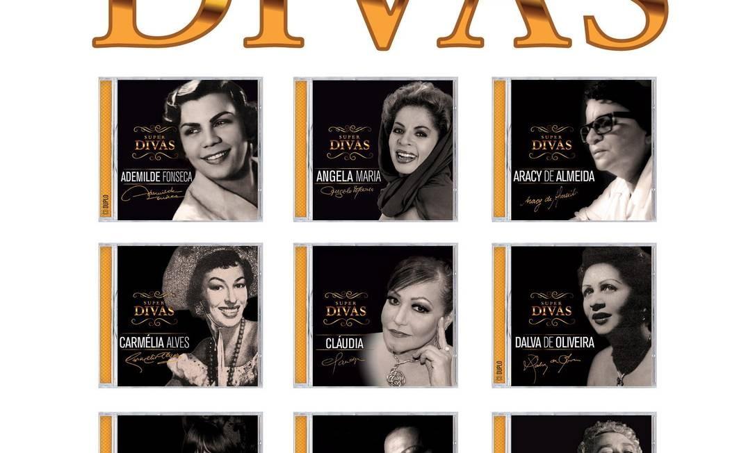 Série Super Divas reúne 13 títulos, sendo dois duplos (Ademilde Fonseca e Dalva de Oliveira) e engloba cerca de 250 faixas Foto: Reprodução