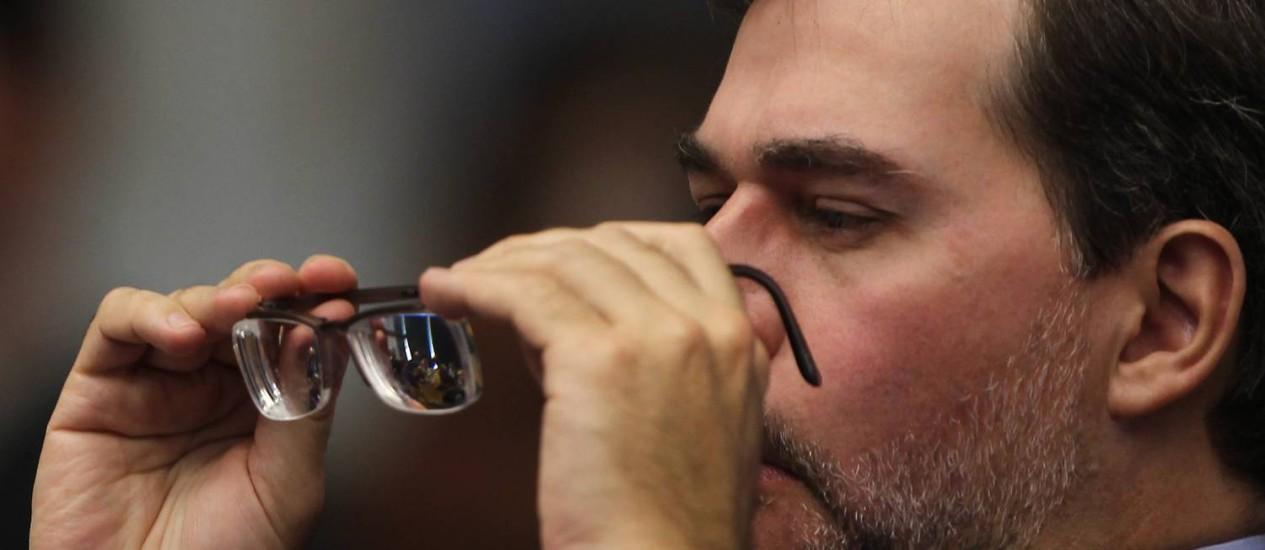 Dias Toffoli: ministro do Supremo tem dito que anunciará a decisão às vésperas do julgamento, marcado para começar em 02 de agosto Foto: O Globo / Gustavo Miranda