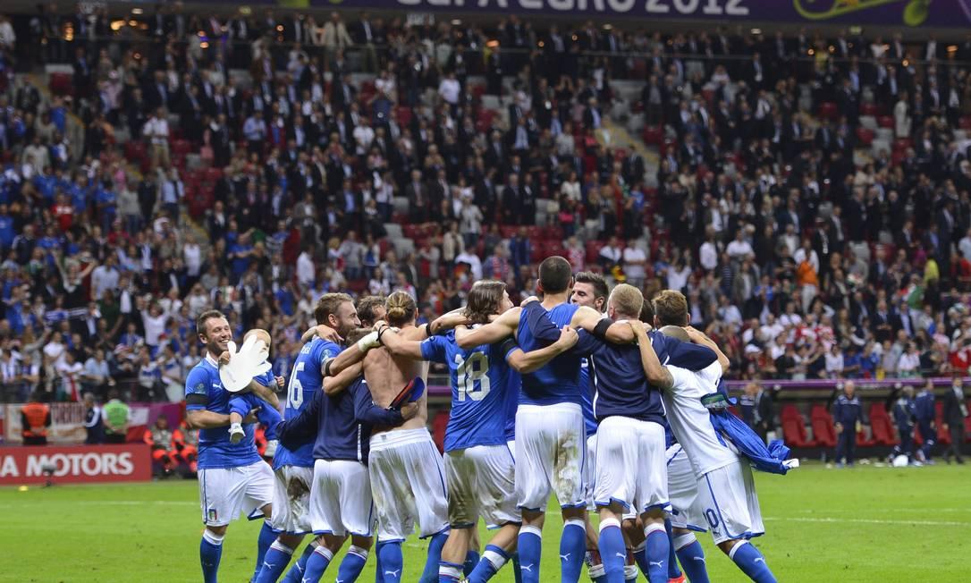 Com a vitória por 2 a 1, a Itália se classificou para a final AFP