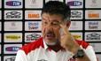 Joel Santana deu declarações firmes após o treino do Flamengo desta sexta