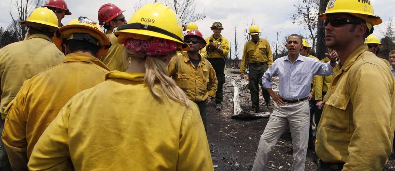 Obama visita área atingida por incêndio no Colorado Foto: Larry Downing/Reuters / Larry Downing/Reuters