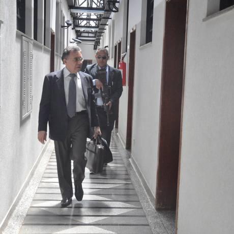 O juiz Odilon de Oliveira: fundamental para desarticular quadrilhas de tráfico, ele vive sob escolta da PF Foto: O Globo / Paulo Yafusso