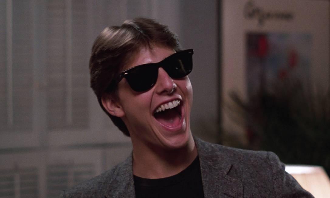"""O primeiro papel de protagonista veio com o longa-metragem 'Losin it', em 1983. Mas o sucesso mesmo veio com """"Negócio arriscado"""" (""""Risky business""""), no mesmo ano. A comédia romântica traz a antológica cena de Cruise dançando de cueca na sala. Nas gravações do filme, ele conhece sua primeira namorada famosa, Rebecca De Mornay Reprodução"""