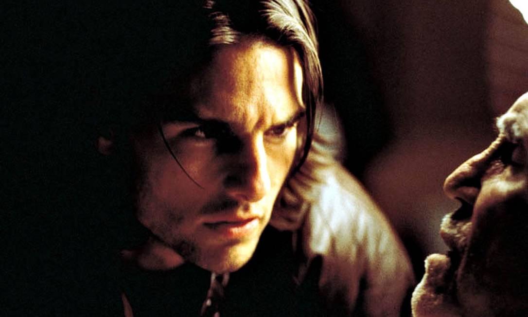 """Também em 1999, Cruise aparece em """"Magnólia"""", de Paul Thomas Anderson, como Frank T.J. Mackey, um machão que faz palestras motivacionais para homens inseguros. Ganha o Globo de Ouro e sua terceira indicação ao Oscar. Reprodução"""