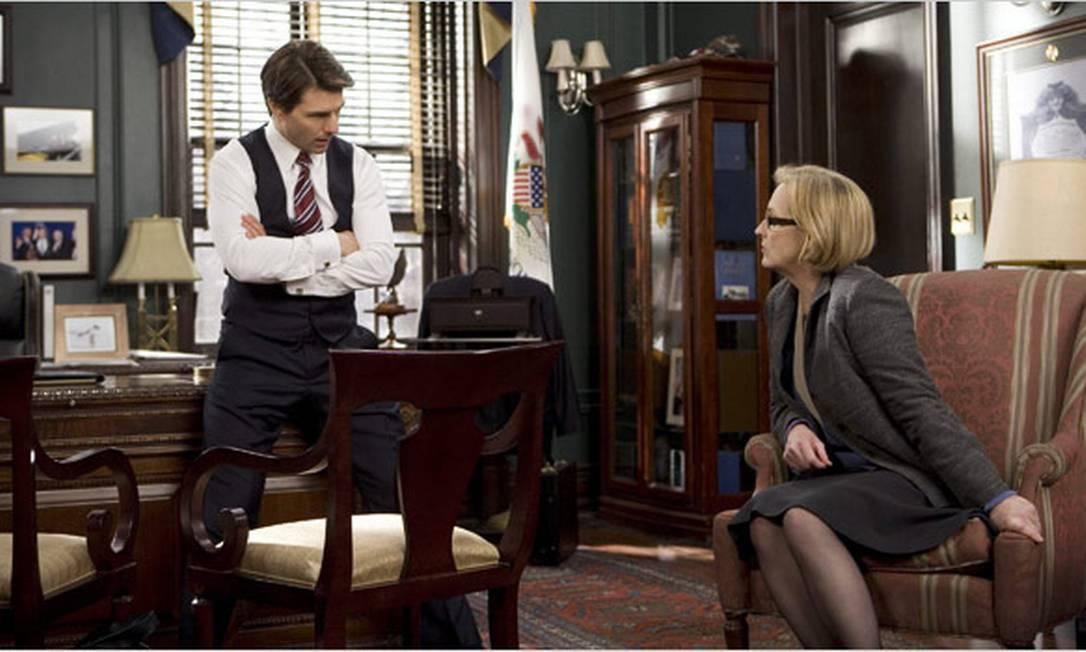"""Em 2007, co-produz o drama """"Leões e cordeiros"""", uma crítica direta à política externa do governo Bush, especialmente as guerras do Iraque e Afeganistão. Além de Tom Cruise, o elenco traz Robert Redford (também diretor) e Meryl Streep. Reprodução"""