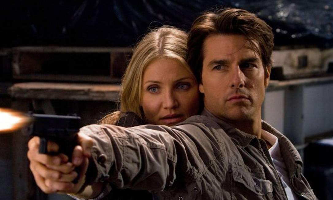 """A pior bilheteria de um filme de ação de Tom Cruise em 20 anos, """"Encontro explosivo"""" teve problemas desde o início. Foram várias mudanças de diretor e elenco até fecharem os nomes de Cruise e Cameron Diaz como protagonistas. Mas certamente o ator preferia não ter aceitado o papel Reprodução"""