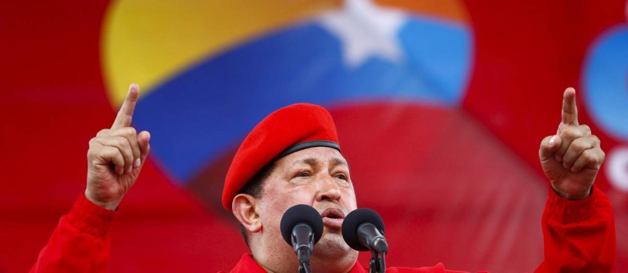 Apesar da prisão da médica do Palácio de Miraflores, as autoridades não fizeram menção à saúde de Hugo Chávez, que luta contra um câncer Foto: Reuters