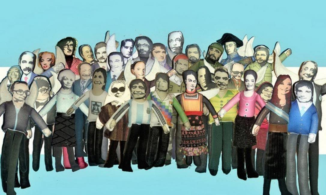 Miniaturas de diversas personalidades argentinas e latino-americanas são vendidas no Museu do Bicentenário, ao lado da Casa Rosada Divulgação internet / Mercado Livre