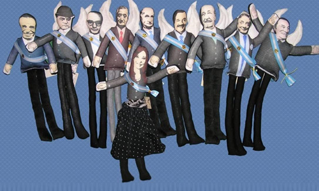 Miniaturas de personalidades argentinas Divulgação internet / Mercado Livre