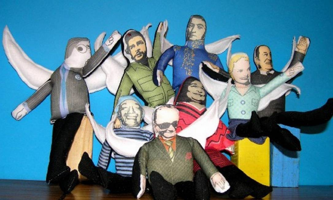 Outras personalidades latino-americanas e argentinas também são bonecos no Museu do Bicentenário Divulgação internet / Mercado Livre