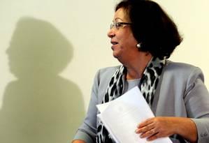 Ministra de Relações Institucionais, Ideli Salvatti Foto: O Globo / Gustavo Miranda
