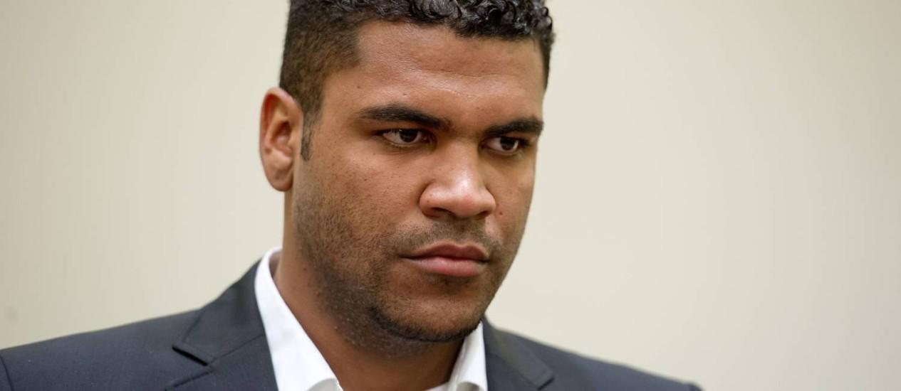 Breno foi condenado a três anos e nove meses de prisão Foto: Sven Hoppe / AFP