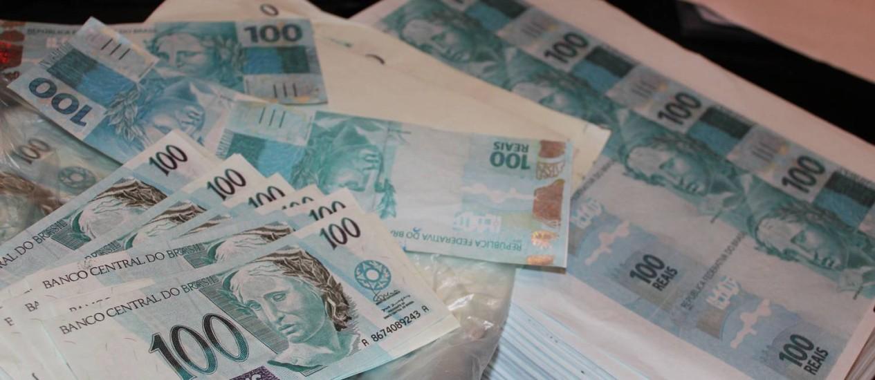 Segundo a PF, há indícios de que a quadrilha falsificava cédulas desde 2000 Foto: Divulgação / Polícia Federal