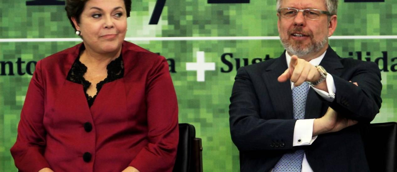 Dilma e Marco Maia participam do lançamento do Plano Safra da Agricultura Familiar Foto: O Globo / Gustavo Miranda