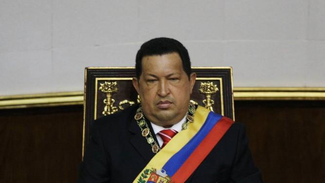 O presidente Hugo Chávez durante uma sessão especial na Assembleia Nacional, em Caracas Foto: Fernando Llano/AP