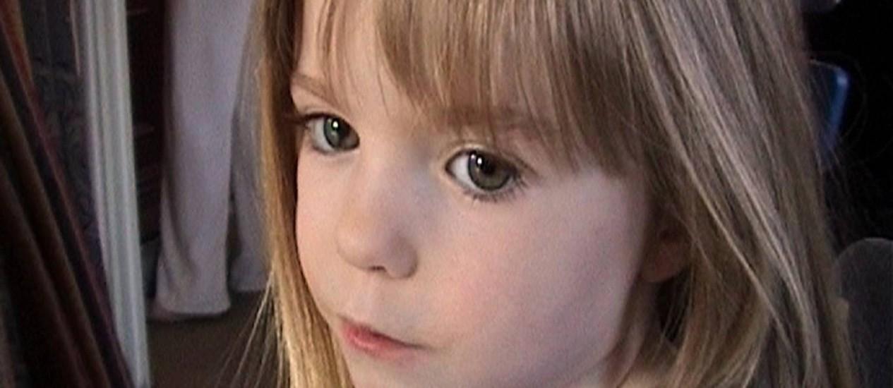 A pequena Madeleine McCann está desaparecida desde maio de 2007. Foto: Arquivo da família