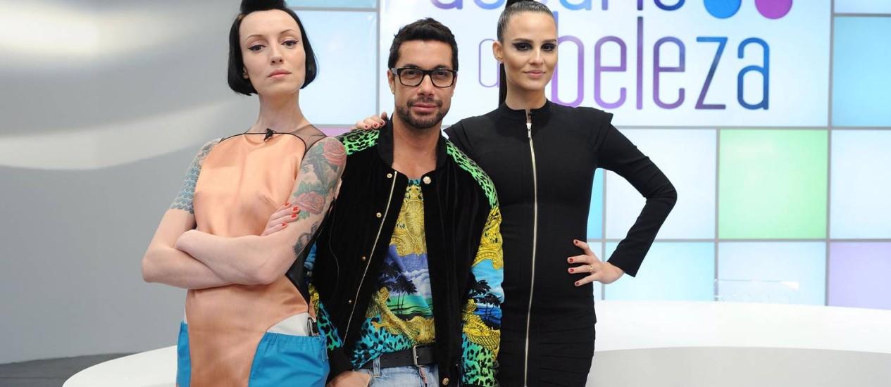 Marina Dias, Fernando Torquatto e Fernanda Tavares comandam a atração Foto: Eliana Rodrigues? GNT
