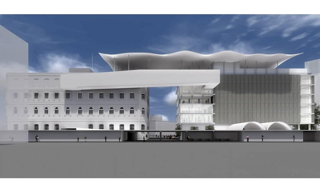 Projeto arquitetônico do Museu de Arte do Rio Foto: Divulgação