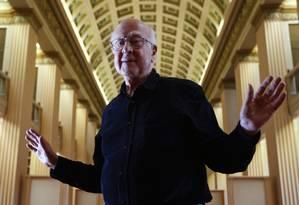 O físico britânico Peter Higgs: felicidade com descoberta, mesmo sem saber se ela terá qualquer aplicação prática Foto: David Moir/Reuters
