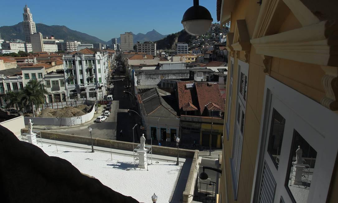 Detalhe da Casa da Guarda, que faz parte do conjunto arquitetônico do Jardim do Valongo Foto: Custodio Coimbra / O Globo
