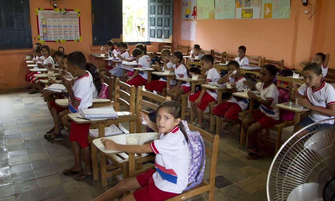 Escola Estadual Dom Bosco, em Eirunepé, sudeste do Amazonas Foto: Agência O Globo / Marcelo Carnaval