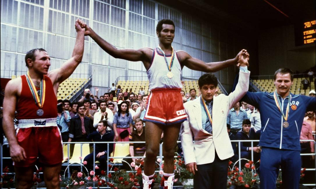 As conquistas de Stevenson foram nos Jogos de Munique-1972, Montreal-1976 e Moscou-1980 Arquivo / AFP