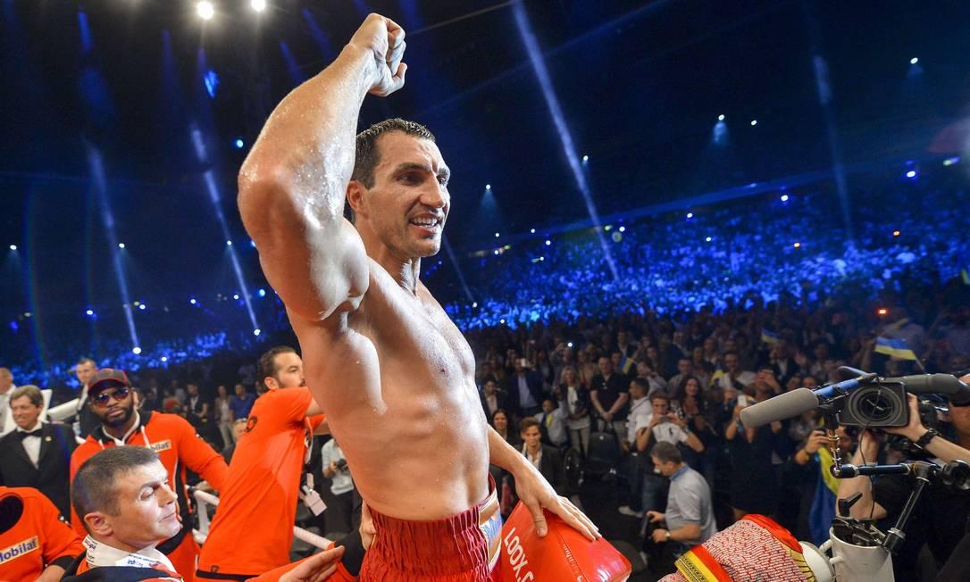 Klitschko ganhou o ouro olímpico em Atlanta, 1996 Fabrice Coffrini / AFP