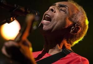 Gilberto Gil se apresenta no Festival de Jazz de Montreux, na Suíça Foto: Valentin Flauraud / Reuters