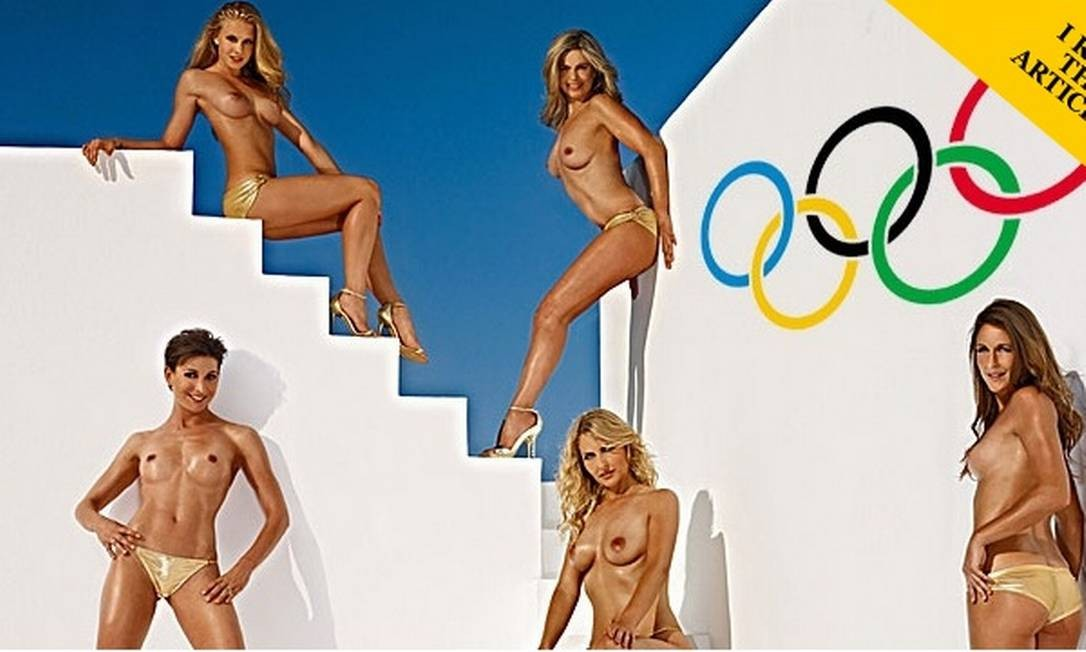 Quatro das cinco atletas que posaram para as lentes da Playboy alemã Foto: Playboy / Divulgação
