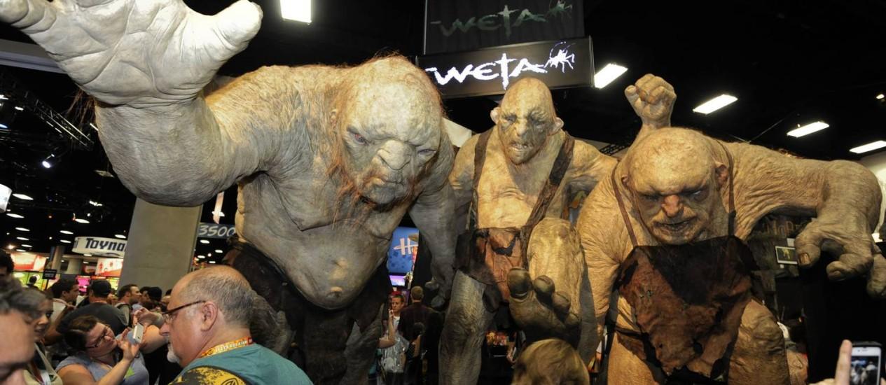 Trols de 'Senhor dos anéis' à mostra na Comic Con Foto: Denis Poroy/AP