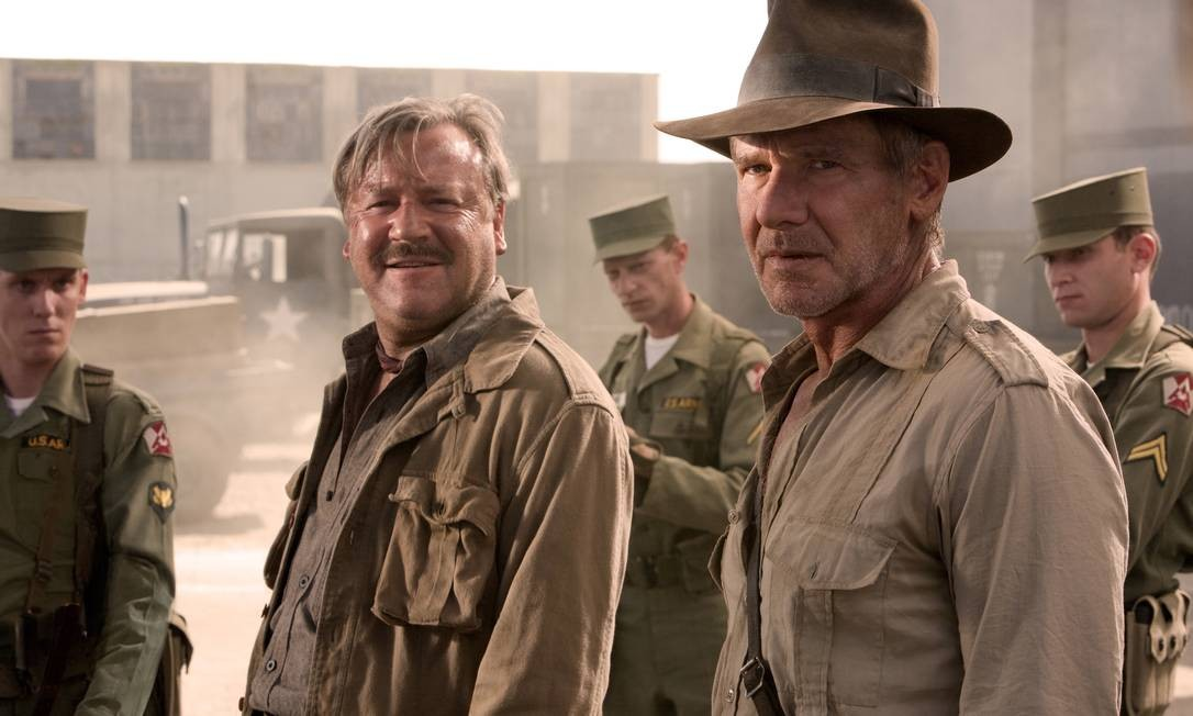 Em 2008, aos 66 anos, o ator topou voltar a encarnar o herói, em 'Indiana Jones e o Reino da Caveira de Cristal' Foto: Divulgação