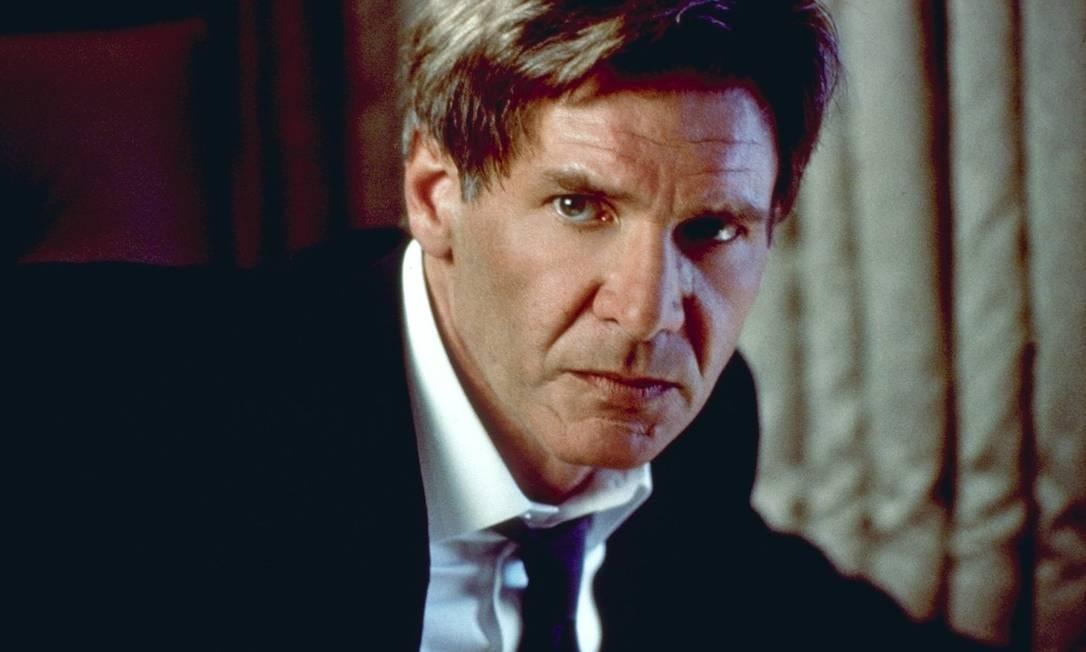 Entre os mais de 40 filmes da carreira, a maioria de ação, Harrison já foi até presidente dos Estados Unidos, como em 'Air Force One' (1997) Foto: Divulgação