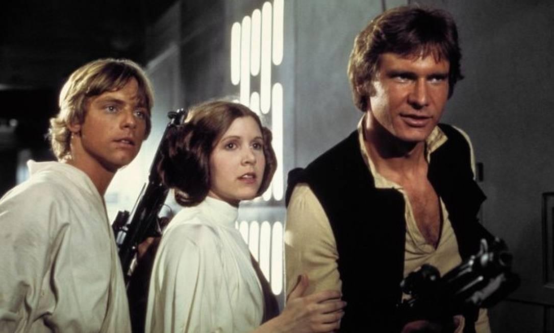Harrison Ford tem heróis adorados em seu currículo. Tudo começou com o Han Solo, da saga 'Star Wars', cujo primeiro filme, 'Uma nova esperança', foi lançado em 1977 Foto: Divulgação/IMDB