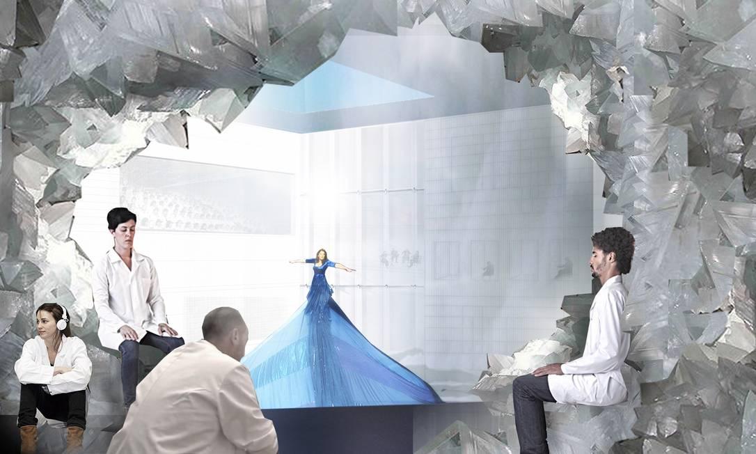 Uma das salas do MAI, Marina Abramovic Institute, que a artista sérvia planeja criar em Hudson, a duas horas de Nova York. O projeto arquitetônico é do escritório OMA, que tem entre os fundadores Rem Koolhaas Divulgação