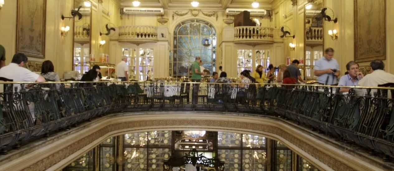Delícias de Históira: a centenária Confeitaria Colombo será um dos pontos do roteiro Menu Real Foto: Pedro Kirilos