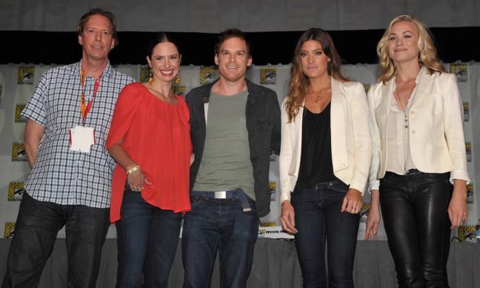 Elenco e produção se reúnem no painel de 'Dexter'. A sétima temporada estreia dia 30 de setembro no canal Showtime, nos Estados Unidos AP