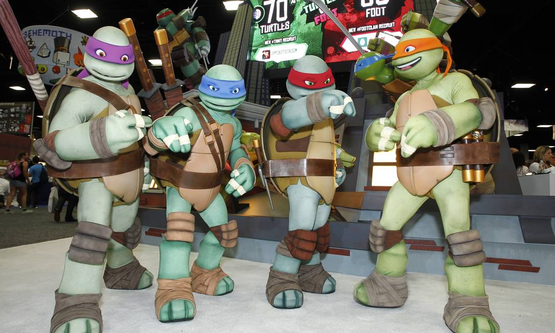 As Tartarugas Ninjas aparecem no espaço do canal Nickelodeon AP