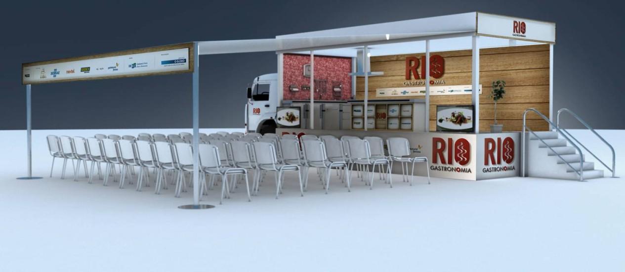 Projeto do caminhão da Cozinha Show que passará por Búzios, Itaipava e diversos bairros do Rio Foto: Foto: Divulgação