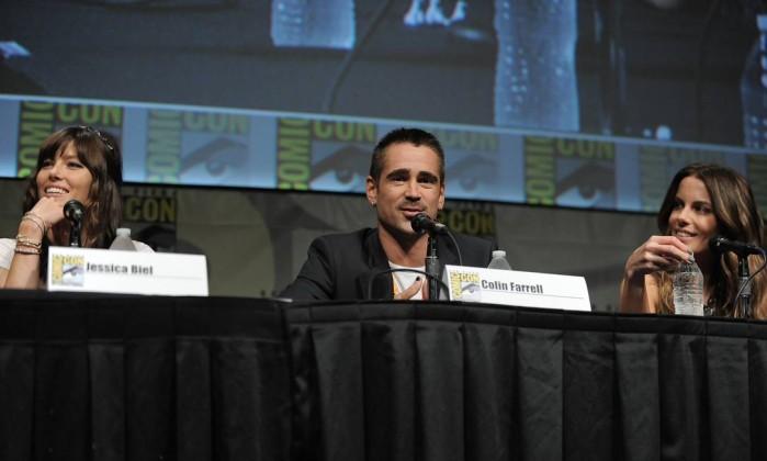 Jessica Biel, Colin Farrell e Kate Beckinsale falaram sobre o filme 'O vingador do futuro' AP