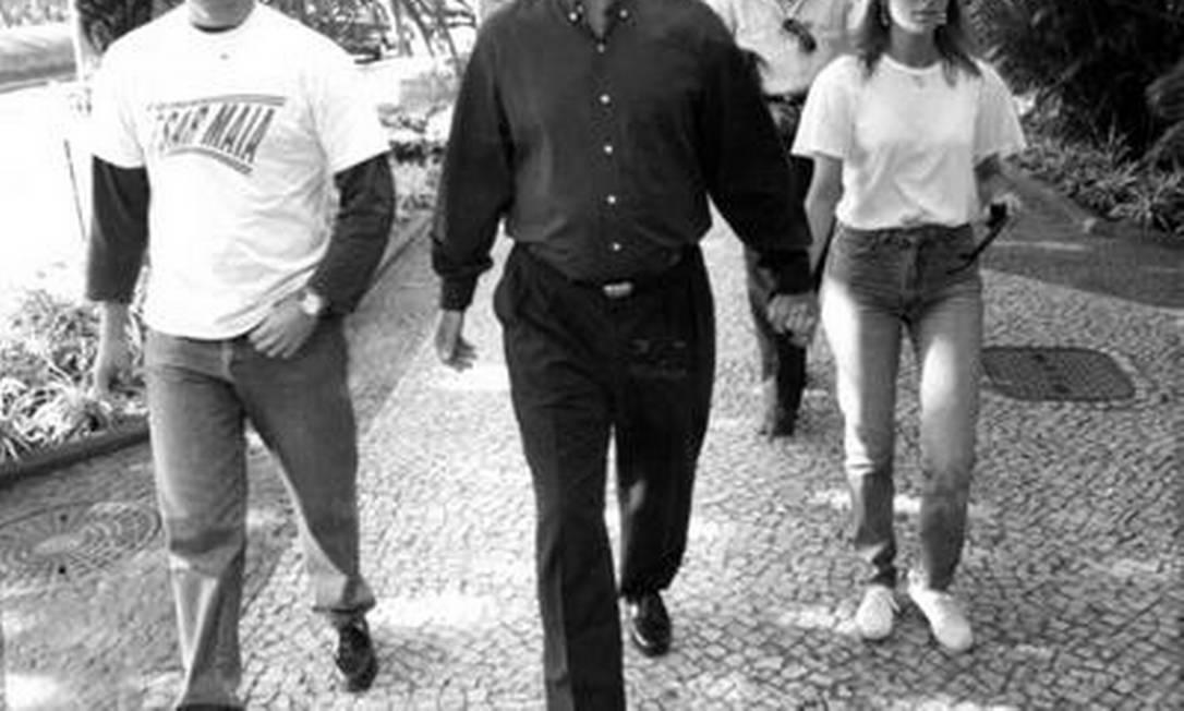 Rodrigo Maia com seu pai, em 1992 Agência O Globo / Gabriel de Paiva