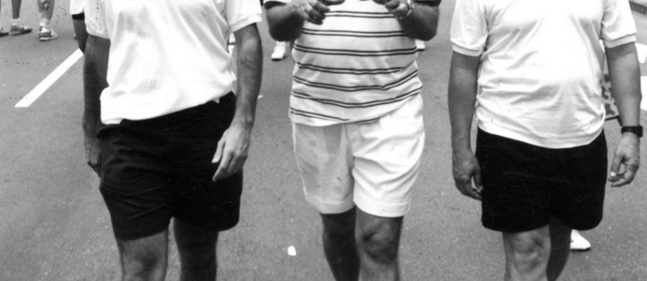 Cesar Maia, na campanha de 1992, ao lado do atual prefeito Eduardo Paes Foto: Fernando Maia/15-11-1992