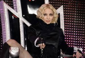 Em novo show Madonna exibe imagem de figuras públicas como o papa Bento XVI e o ex-presidente egípcio Hosni Mubarak Foto: Divulgação