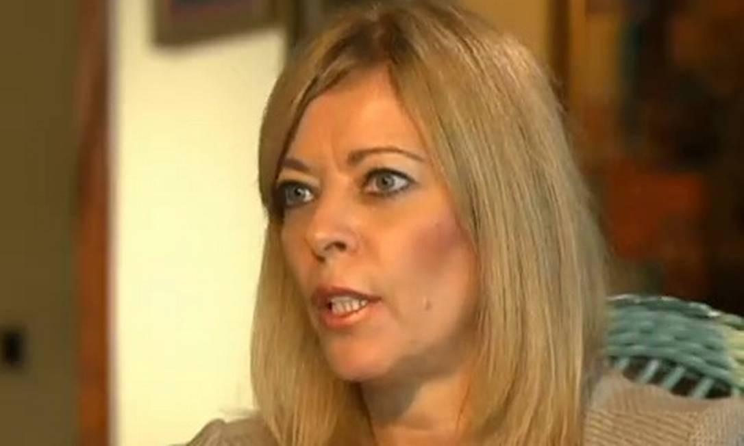 Rosane Collor, durante entrevista ao Fantástico Foto: Reprodução / TV Globo
