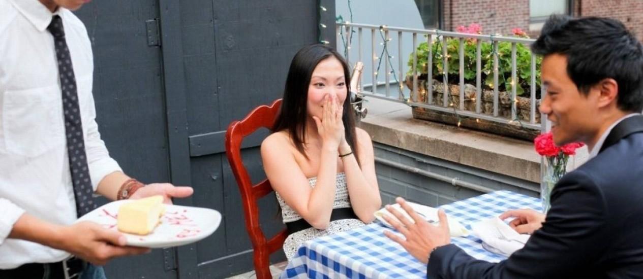 Fã de seriado se inspira no programa para pedir namorada em casamento Foto: Reprodução