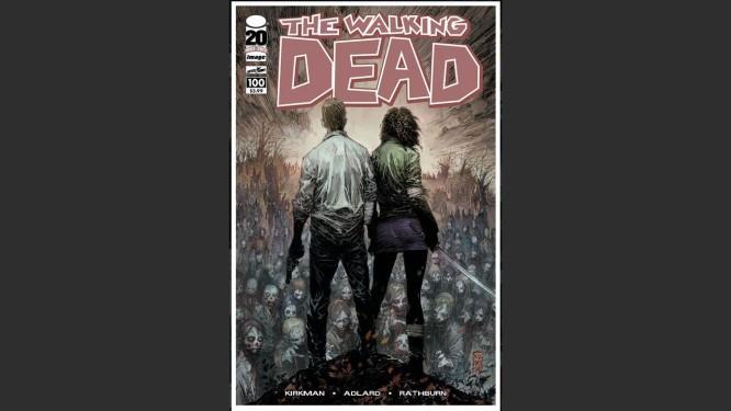 Um das capas da edição número 100 de 'The Walking Dead' Foto: Reprodução