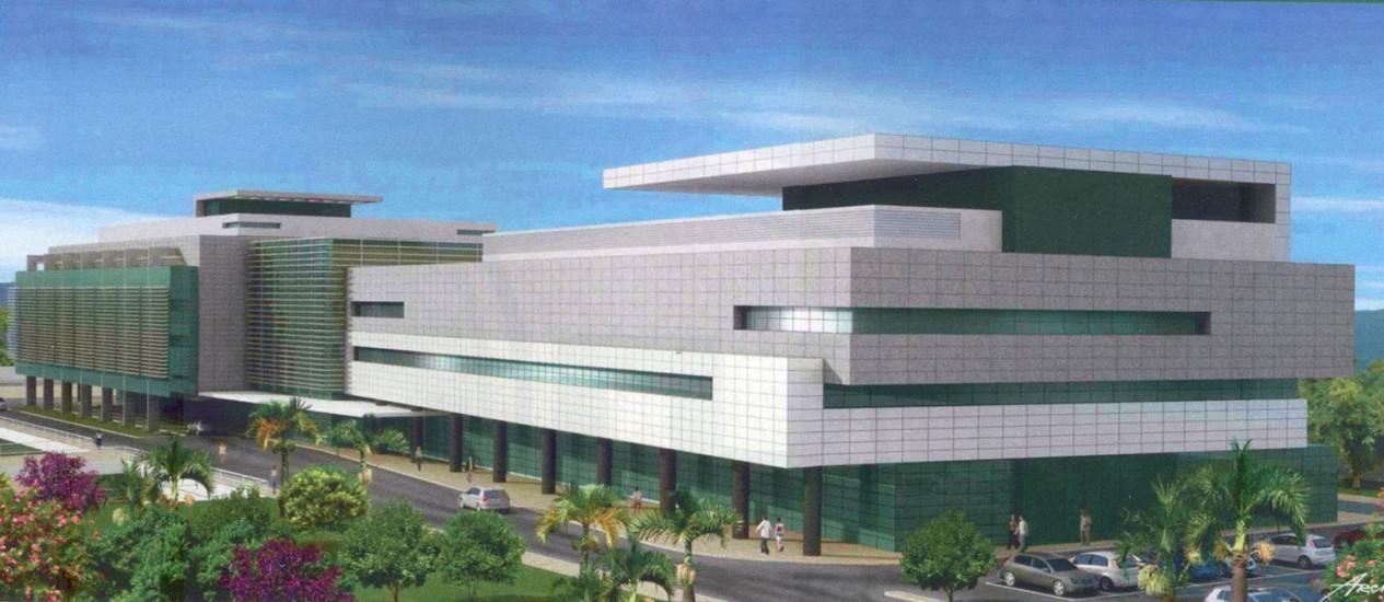 FUTURO HOSPITAL da Unimed, a ser inaugurado até o final do ano Foto: Divulgação/Unimed