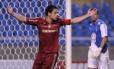 Fred comemora um dos gols na vitória por 4 a 0 sobre o Bahia, no Engenhão