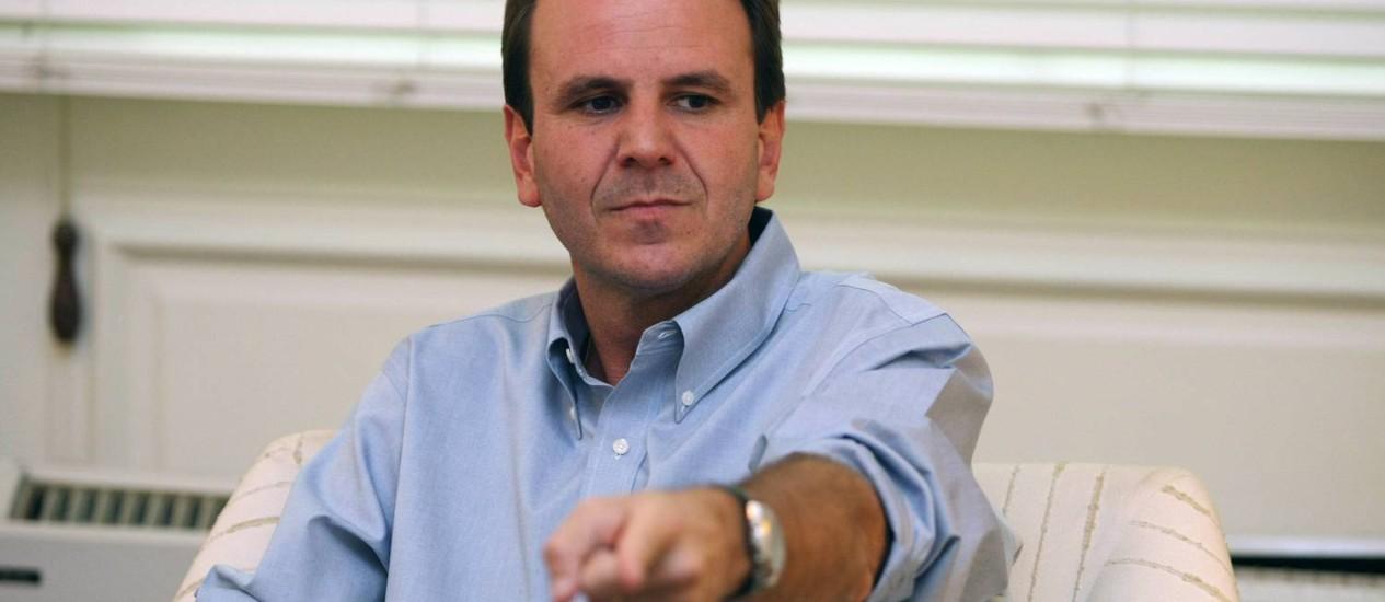 Eduardo Paes tem 54% das intenções de voto Foto: Cleber Junior / Extra
